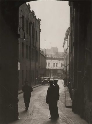Police On Guard In Lane Outside [Site Of] Chemical Explosion [Bulletin Place, Sydney]. Sam Hood,...