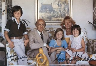 William And Sonia McMahon With Family