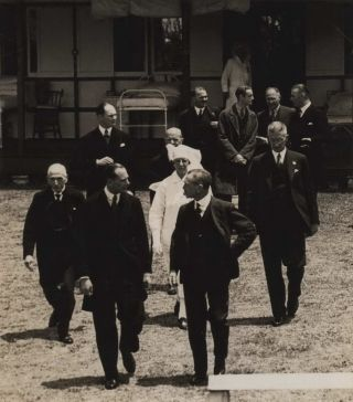 Minister For Health And Repatriation (Lyons Government) Billy Hughes And The Duke Of Gloucester...