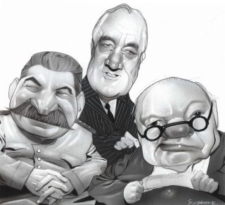 Stalin, Roosevelt and Churchill]. Suzanne White, b.1966 Aust