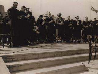 Prime Minister Ben Chifley At The VP Day Ceremonies. Australian War Memorial, Canberra