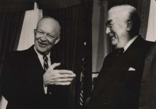 PM Menzies Meeting French PM Debre and US President Eisenhower