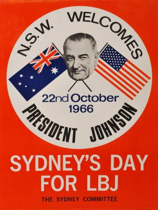 NSW Welcomes President Johnson. Sydney's Day For LBJ