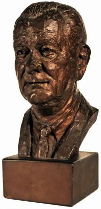 Bust Of Lyndon B. Johnson. Jimilu Mason, b.1930 Amer.