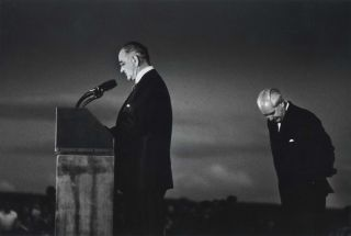 President Johnson And Prime Minister Holt At Canberra Airport. David Moore, Aust