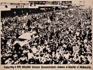 Vietnam Demonstration, Melbourne, Vic