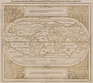 "First General Map Of The World, Showing Unknown ""Terra Australis"""