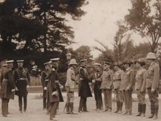 Lord Kitchener In Adelaide Greeting The S. Australian Officers Who Went To S. Africa (Boer War)
