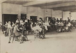 Women Sewing For The War Effort, WWI