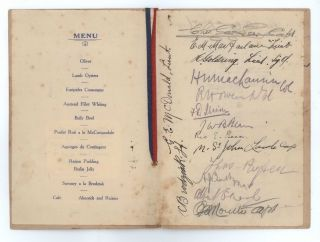"""Farewell Guest Night"" Menu. 3rd Battalion, 1st Infantry Brigade, Australian Imperial Force"