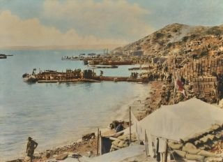 Anzac Cove Gallipoli, Turkey [Looking North To New Zealand Point]. Walter Ernest Dexter, Brit./Aust