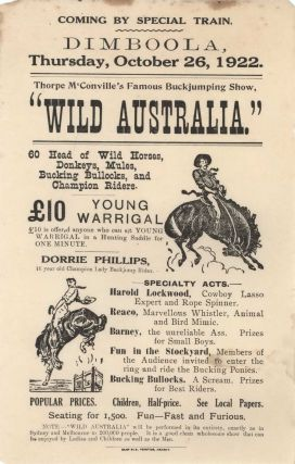 "Thorpe McConville's Famous Buckjumping Show, ""Wild Australia"""