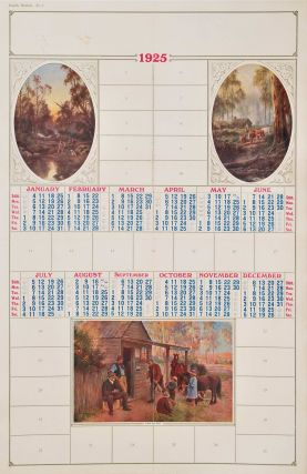 Calendar With Australian Bush Scenes. After J. A. Turner, J H. Scheltema, Aust., Dutch