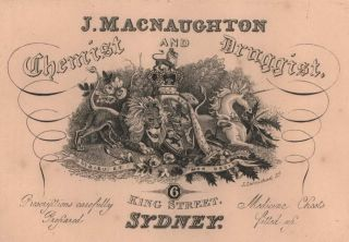 J. MacNaughton, Chemist And Druggist [Advertisement]. John Carmichael, Aust.