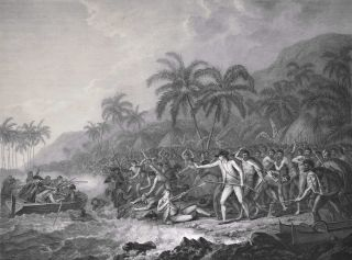 The Death Of Captain Cook. After John Webber, Brit