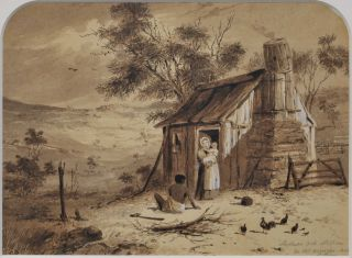 Collection Of Drawings Depicting An Australian Homestead And Landscapes. S T. Gill, Brit./Aust