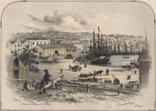 "Circular Quay, Sydney [From The Series ""Scenery In And Around Sydney""]. Samuel Thomas Gill, Aust"