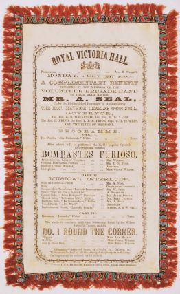 A Complimentary Benefit Tendered By The Members Of The Volunteer Brigade Band [Concert Programme, Brisbane, Australia]
