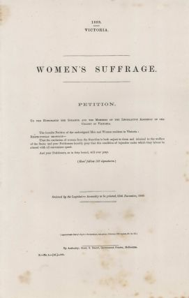 Women's Suffrage Petition, Victoria