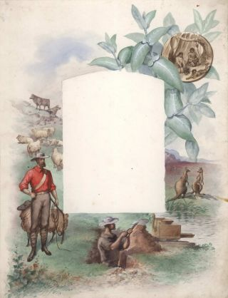 Australian Colonial Imagery Design For Photograph Album