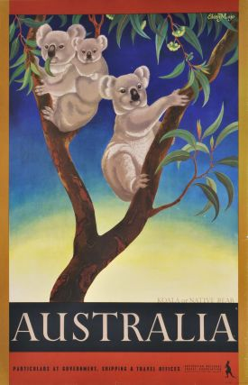 Koala Or Native Bear, Australia. Eileen Mayo, British/Aust./NZ.