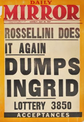 Rossellini Does It Again, Dumps Ingrid