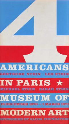 4 Americans In Paris [The Collections Of Gertrude Stein And Her Family]. Robert Indiana, b.1928...
