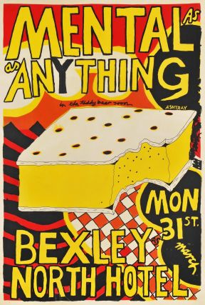 Mental As Anything. Bexley North Hotel. Paul Worstead, b.1950 Australian
