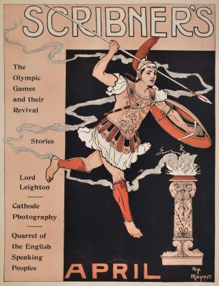 Scribner's, April [First Olympic Poster]. Henry Mayer, Amer