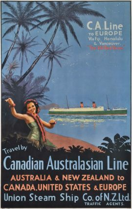 Travel By Canadian Australasian Line. C.A. Line To Europe