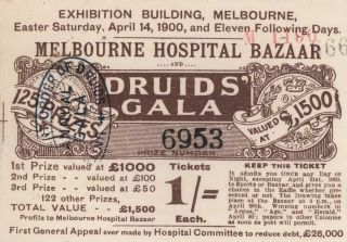 Melbourne Hospital Bazaar And United Ancient Order Of Druids' 31st Annual Gala And Art Union
