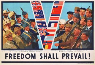 "Freedom Shall Prevail! [""V"" For Victory"