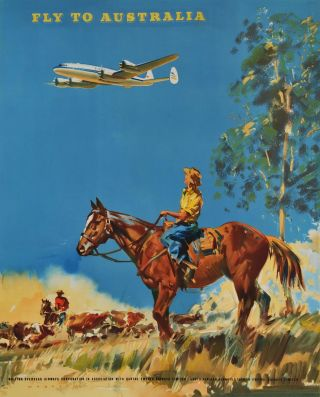 Fly To Australia [BOAC]. Frank Wootton, Brit