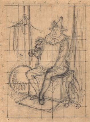 Seated Clown With Dog]. Will Mahony, Aust