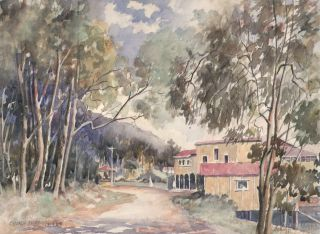 Church Point [Boatshed, Pittwater, NSW]. Geoffrey Myers