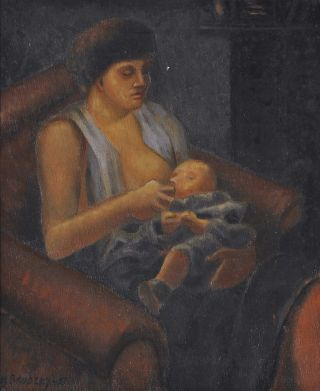 Woman Breastfeeding]. Horace Brodzky, Aust