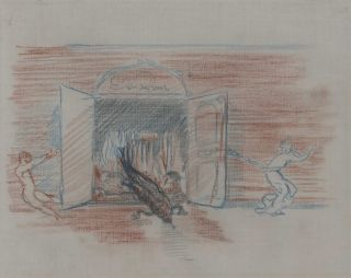 Salamander And The Gates of Hell]. Charles Conder, Aust