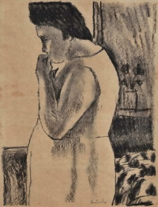 Pensive Woman]. Ray Crooke, Aust