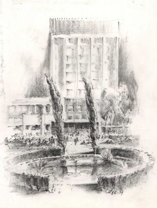 University Of NSW Sketches]. Robert Emerson Curtis, Aust
