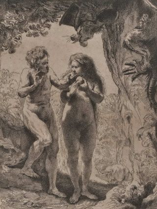 Adam And Eve. Rembrandt, Dutch