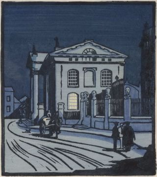 The Sheldonian Theatre, Oxford]. Aubrey K. Moore, active 1920s-30s British