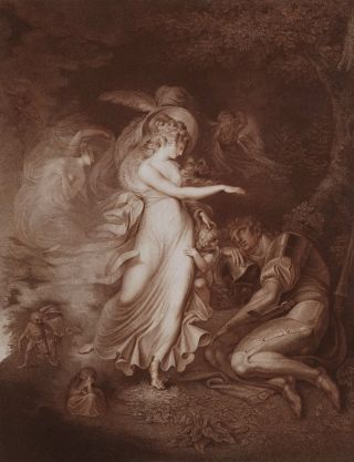 Prince Arthur's Vision. After Henry Fuseli, Peltro Williams Tomkins, Brit.