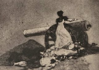 Que Valor! (What Courage!). Francisco de Goya, Spanish