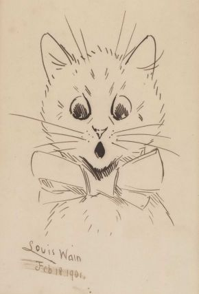 [Cat In Bowtie]. Louis Wain, British.
