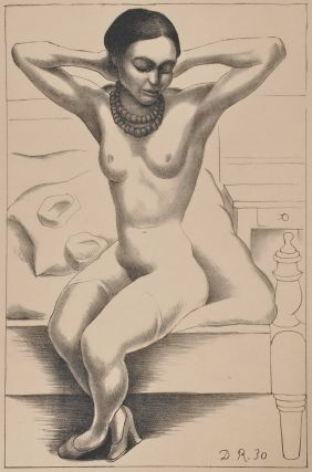 Nude With Beads (Frida Kahlo). Diego Rivera, Mexican