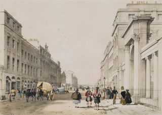 The Regent's Bridge, Waterloo Place, Edinburgh. Samuel Dukinfield Swarbreck, Brit