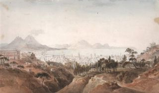View Of Naples With Mount Vesuvius]. Anon