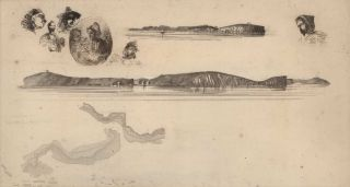 Sketches On The Coast Survey Plate. James McNeill Whistler, Amer./Brit