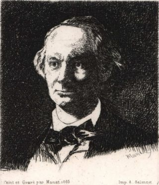 Portrait Of Charles Baudelaire, Full Face. Edouard Manet, French