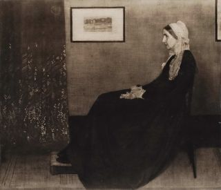 Portrait Of His Mother. After James McNeill Whistler, American/Brit